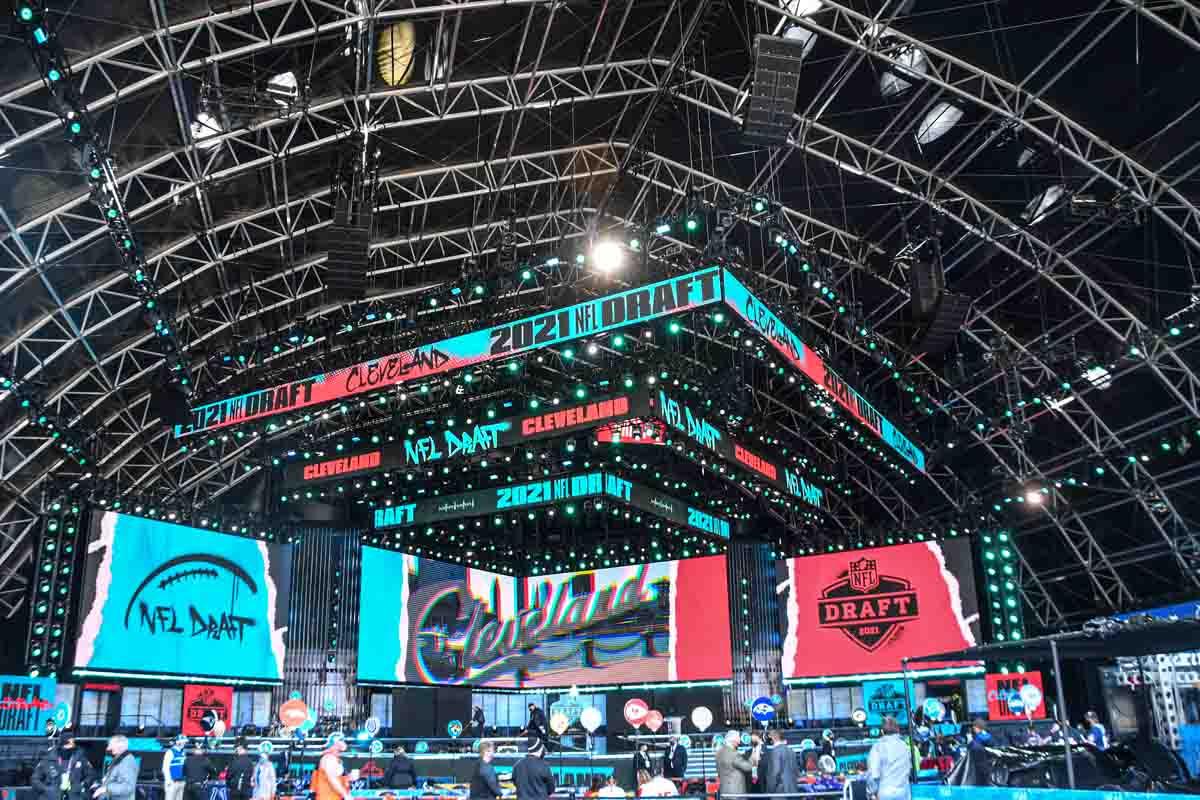 NFL Draft Stage Set sound lighting video