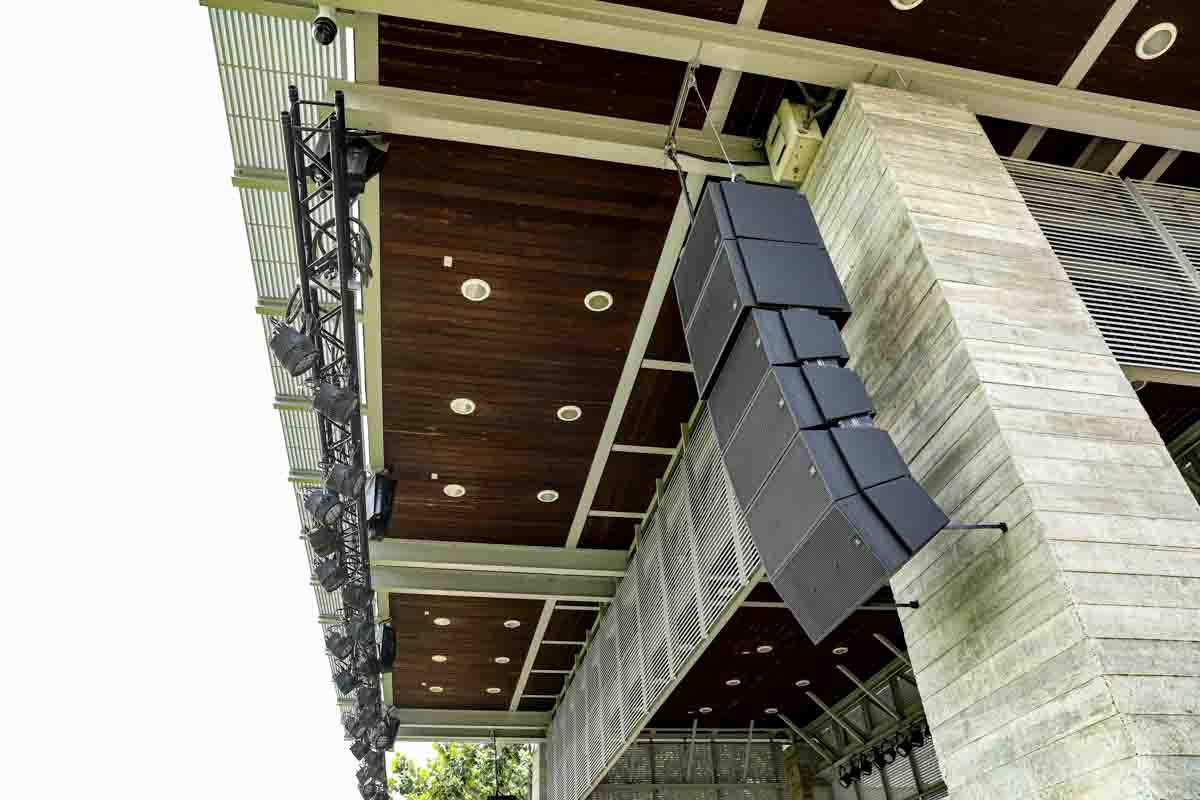 Buffalo Bayou Park Outdoor Stage Speaker Cluster