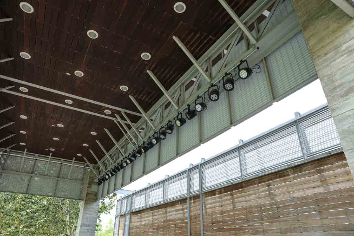 Buffalo Bayou Park Outdoor Stage Lighting Truss