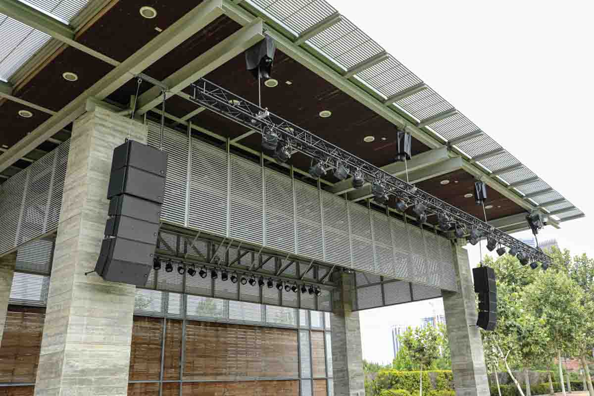 Buffalo Bayou Park Outdoor Stage Speakers