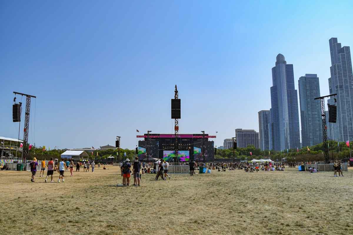 Lollapalooza Music Festival Audio Delay Towers