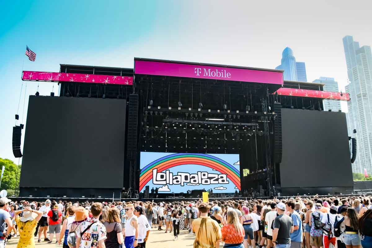 Lollapalooza Music Festival T-Mobile Stage Equipment