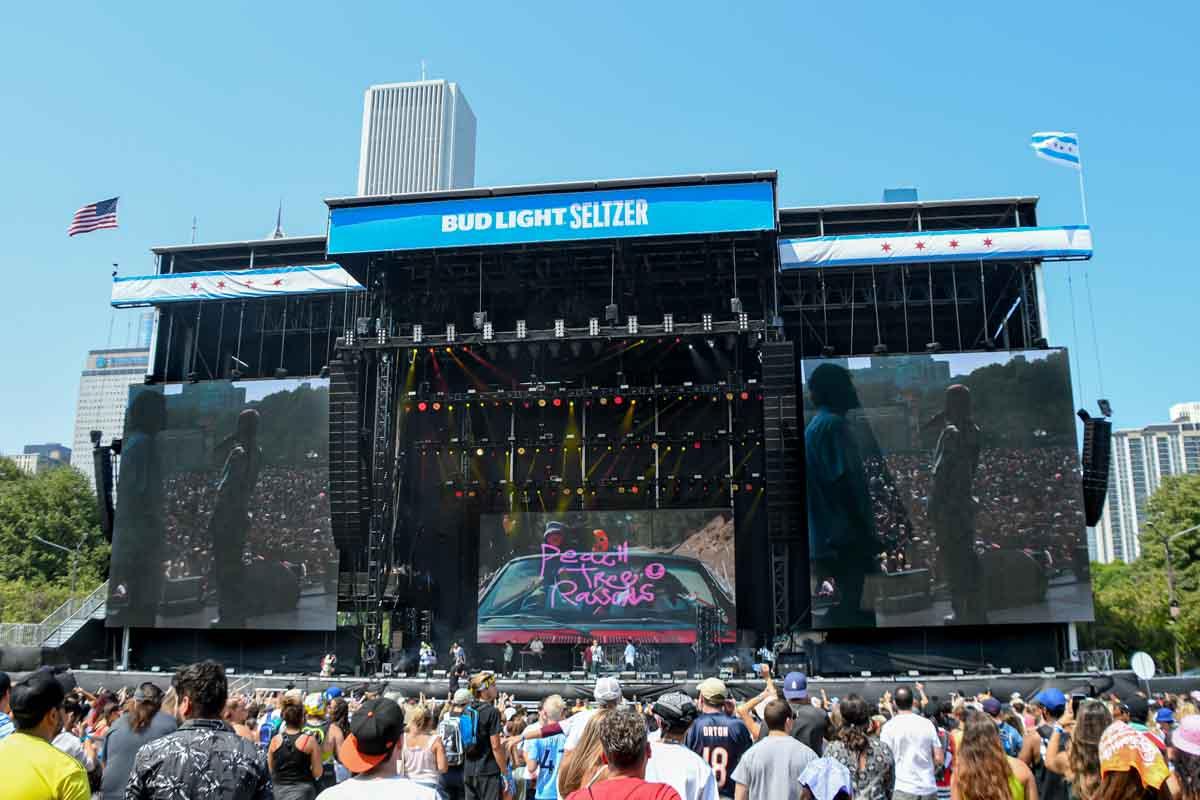 Lollapalooza Music Festival Bud Light Stage