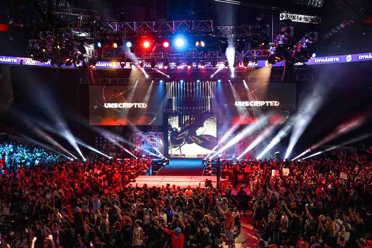 AEW Live Event Arena Lighting